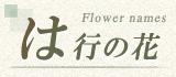 は行から始まる名前の花