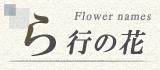 ら行から始まる名前の花