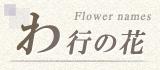 わ行から始まる名前の花