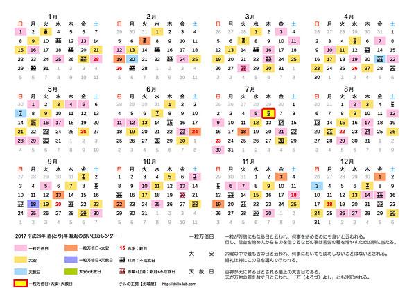 2017年(平成29年)天赦日・一粒万倍日・大安