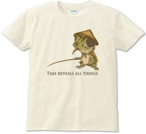 釣り 蛙 カエル レトロ オリジナルイラスト Tシャツ デザイン