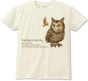 ネコフクロウ 梟 猫 ミミズク 金魚 Tシャツ グッズ