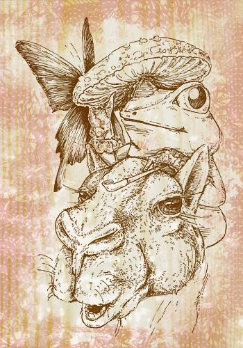 ラクダとカエル婦人