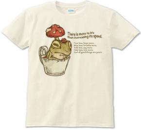 紅茶キノコ ベニテングダケ イラスト 蛙 カエル キノコ Tシャツ