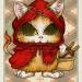 赤い帽子のおちびさん 赤ずきんネコ