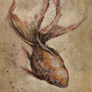 アクリル画-金魚